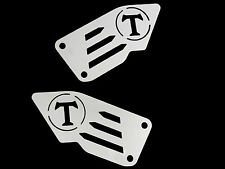 Foot pegs heel plates guard for TRIUMPH SPEED TRIPLE 955 02-10