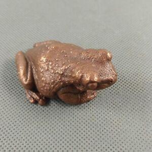 New Handmade Bronze Casting Vivid Artwork Lifelike Mini Milk Forg Toad HD331