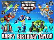 TRANSFORMERS RESCUE BOTS Personalized edible cake topper FREE SHIPPING in Canada