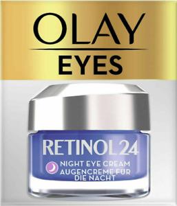 2 x Olay Retinol24 Night Eye Cream With Retinol & Vitamin B3 15ml, NEW & GENUINE