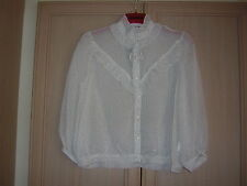 CHELSEA GIRL AT RIVER ISLAND  VICTORIAN STEAMPUNK GOTHIC  BLOUSE UK 14 BNWT