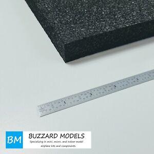 "EPP Foam Sheets Black 1"" (25mm) Thick #1.3 Density 12"" x 36"""
