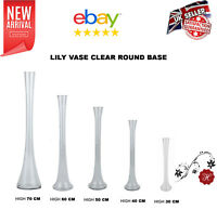 CLEAR GLASS LILY VASE WEDDING TABLE CENTREPIECE IN 30,40,50,60,70CM***ON SALE **