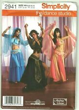 Adult Sz 6 8 10 12 Belly Dancer Dancing Costume Sewing Pattern Simplicity Dance