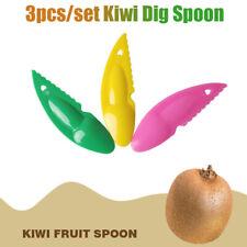 3Pcs 2 in 1 Kiwi Dig Spoon Scoop Plastic Fruit Knives Slicer Peeler Cutter Tool.