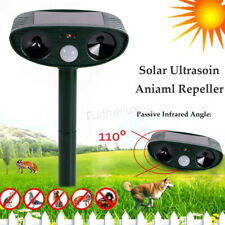 Outdoor Solar Ultrasonic Power Pest Animal Repeller Repellent Garden Cat Dog