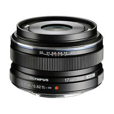 Olympus M.ZUIKO Digital 17mm f/1.8 Lens EW-M1718 Black Bulk Pack UU