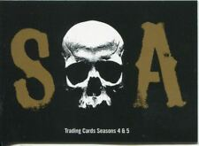 Sons Of Anarchy Seasons 4 & 5 Complete 72 Card Base Set