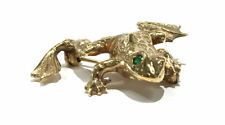 with emerald eyes 14Ky Frog broach