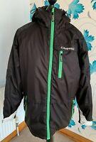 Campri Mens Black & Green / White Trim Ski Jacket / Coat - Size Extra Large (XL)