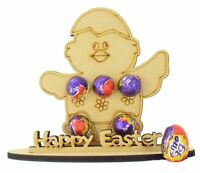 Happy Easter Easter Chick Mini Creme Egg Holder on a Stand For Boy Girl Gifts