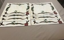 Lenox Holiday Nouveau  Holly Berry Gold Placemats - NEW  Set of 8