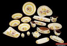 VTG Stangl Pottery Provincial Fall Gold Salt Pitcher Veggie Platter Gravy Butter