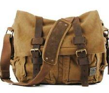 NWT S.C. Cotton canvas messenger bag laptop unisex