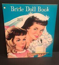 Vintage Bride Doll Book #1044 Paper Doll Book Lowe 4 Dolls Uncut