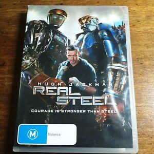 Real Steel DVD Hugh Jackman R4 LIKE NEW FREE POST