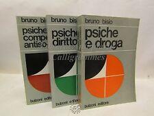 PSICOLOGIA Alcool Droga Social: Bruno Bisio, LA PSICHE 3 voll, Bulzoni 1976-1977
