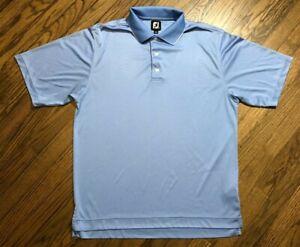 FootJoy FJ Mens Blue Short Sleeve Polo Golf Shirt Size Large