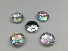10pcs Sew on Diamante  BUTTONS Sparkle Acrylic Crystal Rhinestone