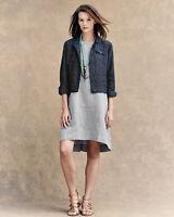 Eileen Fisher 465$ Organic Linen Sleeveless Chambray Dress Size M