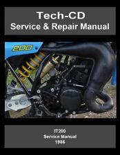Yamaha IT200 Service & Repair Manual IT200S 1986