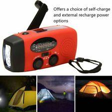 Emergency Solar Wind Up Hand Crank 3 LED Flashlight AM/FM Weather Radio KW