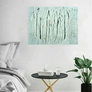 Abstract Hand-painted Art Oil Painting Wall Decor Canvas - Framed Line Art