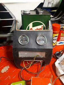 Original 1960s Smiths Amps & Oil Pressure Gauges Panel MG Midget Triumph Herald