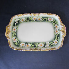 T&V Limoges France Daisy Ring of Daisies Dresser Tray