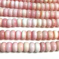 """15.5""""  -Natural Pink Queen Conch Shell Roundel Bead 5x8mm HQ, NEW DIY Design"""