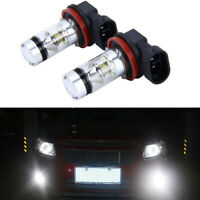 2pcs LED Fog Light Super Bulbs 3030 High Brightness H8 H9 H11 6000K 100W White