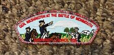 BOY SCOUT SHOULDER PATCH GENERAL WASHINGTON BATTLE OF MONMOUTH MANY COLORS PATCH