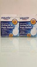 Equate Effervescent Antacid Pain Relief Aspirin Original Flavor 72 Tablets 2PK