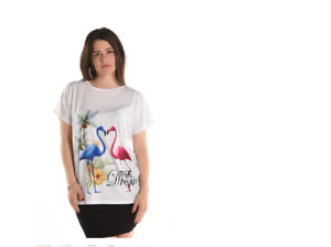 T-Shirt Einheitsgrößeübergröße 42 / 44 / 46 / 48 Flamingo bequemer Schnitt
