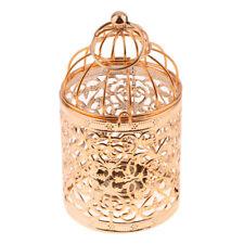 Wedding Decor Candle Holder Bird Cage Tea Light Candlestick -Rose Gold