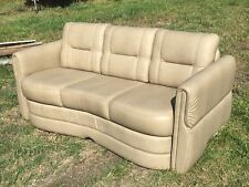 "2013 Villa International RV Sofa 75"" Ultraleather boat motorhome couch Gray"