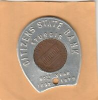 (Y) Encased Cent - Sturgis, MI - Citizens State Bank - 1972 D