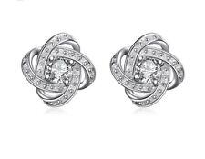 925 Sterling Silver Earrings Studs Cubic Zirconia Women's Jewellery Auss Ladies