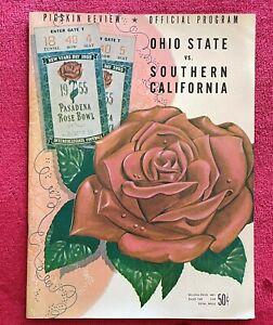 1955 PASADENA ROSE BOWL - OHIO STATE -vs- SOUTHERN CALIFORNIA - OFFICIAL PROGRAM