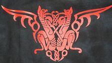 BNWT Dragón Rojo Impresión tye dye t shirt unisex Motociclista Gótico Wicca Talla L