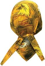 Gold Feel The Wind Eagle Doo Rag Headwrap Skull Cap Sweatband Capsmith CDL005