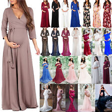 Pregnant Long Dress Maternity Women Party Evening Maxi Gown Photography Clothes