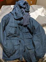 CANADIAN ARMY WINTER ARCTIC PARKA - SIZE 70/40 GORETEX REGULAR MEDIUM RCAF BLUE