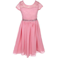 ROSE Flower Girl Dress Birthday Pageant Wedding Party Bridesmaid Formal Gown