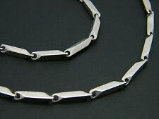 Chaîne à Maillons Acier Inoxydable Inox 316L teinte argenté homme bijou collier