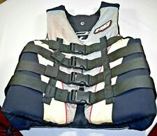 H2O Sports Mens Life Jacket L Type III 40-44 In Chest Ski Vest 4L *Note