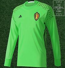 Belgium Home Goalkeeper Shirt -Official adidas GK Jersey with Padding -All Sizes