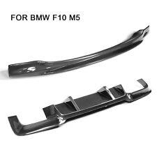 Carbon Fiber Front Lip Spoiler Rear Diffuser fit for BMW F10 M5 Bumper 2012-2016