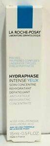 La Roche-Posay Hydraphase Intense Eyes 0.5 oz / 15 ml NIB EXP 01/21-03/21