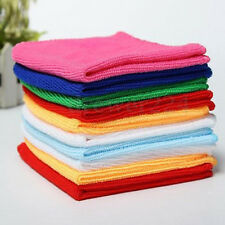 10 Soft Cotton Face Towel Cleaning Hand Wash Cloth Bathroom Kitchen Candy Color
